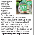 Win 1 of 10 Packets of Apple & Cinnamon Pancakes from The Dominion Post