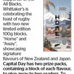 Win 1 of 2 Double Packs of Whittakers All Blacks Chocolates from The Dominion Post