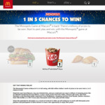 McDonald's Monopoly: Win a Share of Prizes Worth $93,642,278.97 (Purchase Required, 1 in 5 Instant Win)