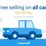 Free Selling on All Cars @ Trade Me
