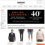Barkers 40% off (Selected Items) Online Only Flash Sale