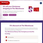 20% off Storewide @ The Warehouse w/Warehouse Money Visa