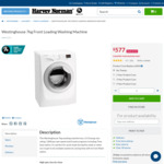 Harvey Norman's Biggest Deals Since Boxing Day Sale - Westinghouse 7kg Front Loading Washing Machine for $577 and more