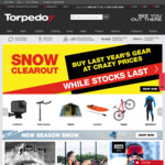 Torpedo 7 - 40% off Brand, 15% off Bikes, up to 20% off Almost Everything Else