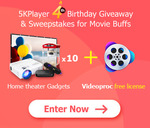 Win 1 of 10 Packs of Home Theater Gadget ($320) from 5KPlayer Sweepstakes