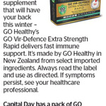 Win a Pack of GO Vir-Defence Extra Strength Rapid from The Dominion Post