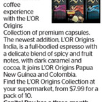 Win a Three-Month Supply of The New L'OR Origins Collection from The Dominion Post