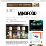 Win 1 of 2 SodaStream's Spirit Machines from Mindfood