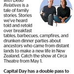 Win a Double Pass to Conversations with Dead Relatives from The Dominion Post (Wellington)
