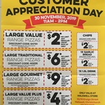 Domino's Customer Appreciation Day: $2 Pizzas & More - 30/11/19 11AM to 2PM (Halswell, CHC)