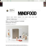 Win a Cook & Nelson Cocktail Artisanal Gift Box (Worth $109.95) from Mindfood