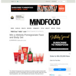 Win a Weleda Pomegranate Face and Body Set (Worth $262) from Mindfood