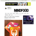 Win 1 of 2 Sets of The Timeless Wisdom Series Books from Mindfood
