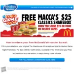 Free Voucher for a McDonald's $25 Classics Sharebox When You Spend $25 on Hasbro Games at The Warehouse
