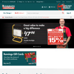 Ozito Hammer Drill $44, Halogen Worklight 500W $17.96 and More @ Bunnings Warehouse
