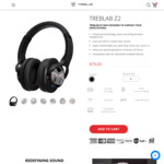 Z2 Wireless Active Noise Cancelling Headphones - $130 Delivered @ Treblelab