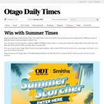 Win 1 of 51 Prizes (Worth $20,000) from The Otago Daily Times [Daily Codes]