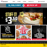 Large Value Pizza $9, Large Extra Value $11, Large Traditional $11, Large Gourmet $13 Delivered @ Domino's