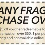$5 off Fragrances $50+ @ Chemist Warehouse (Auckland) [Coupon]