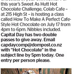 Win a Double Pass to How to Make A Perfect Cafe Style Hot Chocolate from The Dominion Post (Wellington)