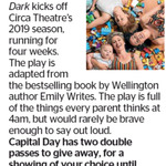 Win 1 of 2 Double Passes to Emily Writes Rants in The Dark from The Dominion Post (Wellington)