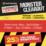 25%* off Lowest Marked Prices at Noel Leemings Clearance Center in Store Only