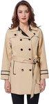 Women's Khaki Double Breasted Lapel Trench Coat Long Overcoat Woolen Slim Parkas US $24.84 (~NZ $37) @ KateKasin