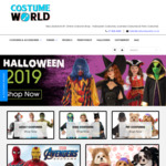 $20 off $99+ Spend or 15% off @ Costumeworld.co.nz