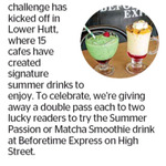 Win 1 of 2 Summer Passion or Matcha Smoothie Drinks at Beforetime Express on High St. from The Dominion Post (Wellington)