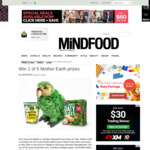 Win 1 of 5 Mother Earth Prizes from Mindfood
