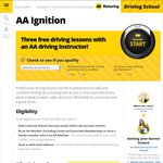 3 FREE Driving Lessons for Learner Drivers of AA Family Members