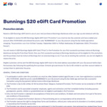 Bonus $20 Bunnings eGift Card When You Checkout Instore at Bunnings using Zip (New Customers Only)