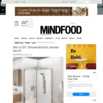 Win a DIY Showerdome® Shower Top Kit Worth $299 from Mindfood