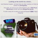 Win a $500 Photo Warehouse Voucher from BurgerFuel