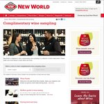 FREE ($0) Wine Sampling of a Selection of Gold Medal Wines @ New World