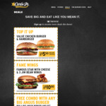 Value Chicken Burger/Burger $5.50 w/purchase, Famous Star w/Cheese + 3 Wings $10 + More Coupon Deals @ Carls Jr.