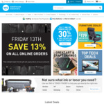 Further 13% Off Online Orders @ Warehouse Stationery