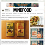 Win 1 of 5 Whittaker's Chocolate Packs from Mindfoods