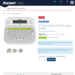 Brother Label Maker P-Touch PTD210 - $18.74 Delivered (after $30 Cashback) (Bulk Discounts Available) @ Ascent