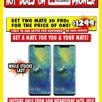 Buy 1 Huawei Mate 20 Pro $1299 & Get 1 Free @ JB Hi-Fi (In-store Only)