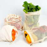 Organic Cotton Reusable Produce Bags 5-Pack (Large) $5.40 + Shipping (Was $18) @ Mighty Ape