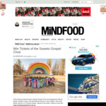 Win 4 Tickets of The Soweto Gospel Choir from Mindfood