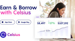 Celsius Wallet Signup Bonus: US$90 for New Users or $40 for Existing Users (US $50 Deposit Required)