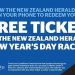 Free Entry into The New Years Day Races in Ellerslie [NZHerald App]