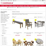 Outdoor Furniture Additional 50% off Clearance Price @ The Warehouse (In Store Only)
