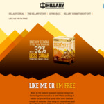 "Hillary Summit Cereal - ""Like Me or I'm Free"" Promotion"