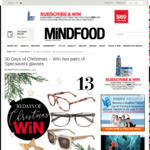Win 2 Pairs of Specsavers Ellery Range Glasses (Worth $299) from Mindfood