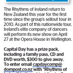 Win The Rhythms of Ireland Family Pass, CD and DVD (Worth $300) from The Dominion Post
