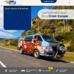 Campervan Rentals from $15 a Day (Min Period 14 Days) until Sep 30 @ EscapeRentals