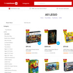 LEGO Buy 1 Get 1 50% off (+ Extra 10% off Toys, $10 off $55 Spend) @ The Warehouse
